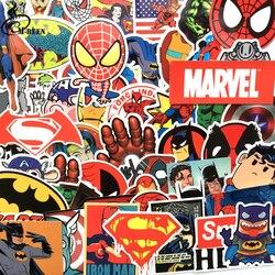 NEUE 50 teile/los Aufkleber Für MARVEL Super Hero DC Für Auto Laptop Notebook Aufkleber Kühlschrank Skateboard Batman Superman Hulk Eisen mann