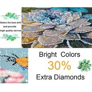Image 3 - Hot Diy Diamant Malerei Kreuz Stich Rosa Rose Mit Wasser Tropfen Muster Stickerei