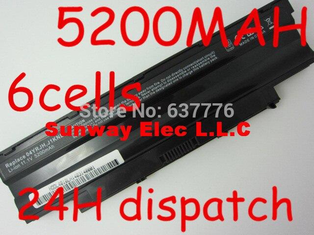 5200mAh Battery j1knd for Dell Inspiron M501 M501R M511R N3010 N3110 N4010 N4050 N4110 N5010 N5010D N5110 N7010 N7110