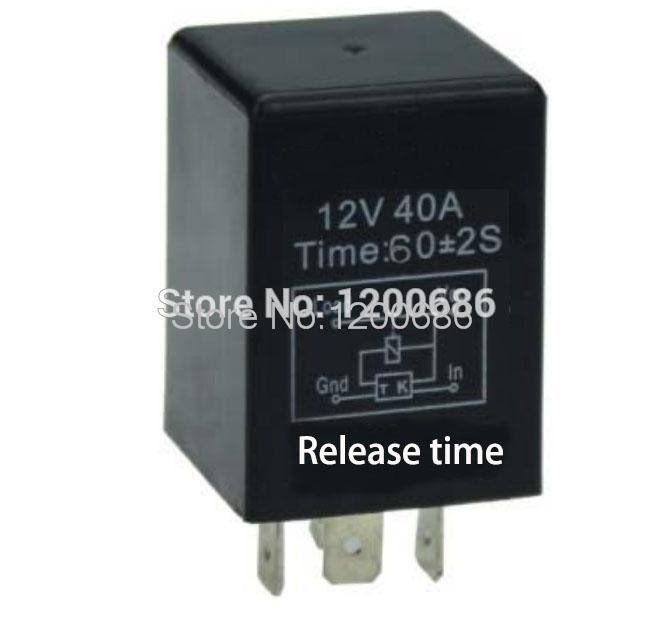 1 minutes delay relay Automotive 12V Time Delay Relay SPDT 60 second delay release off relay 2015 new arrival 12v 12volt 40a auto automotive relay socket 40 amp relay
