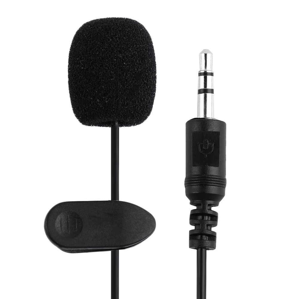Draagbare Externe 3.5 mét Rảnh Tay Mini Bedrade Kraag Clip Revers Lavalier Microfoon Voor PC Máy Tính Xách Tay Lound Loa