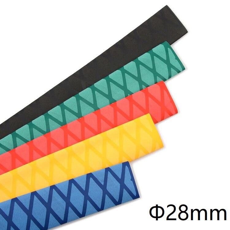 Heat Shrink Tubing 28mm Black X-Tube Fishing Rods Handle Grips Sleeving Wrap