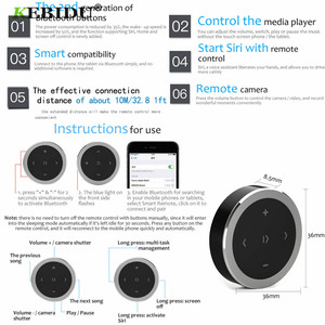 Image 5 - Kebidu אלחוטי Bluetooth מדיה שלט הגה mp3 מוסיקה לשחק עבור אנדרואיד IOS Smartphone בקרה לרכב סטיילינג