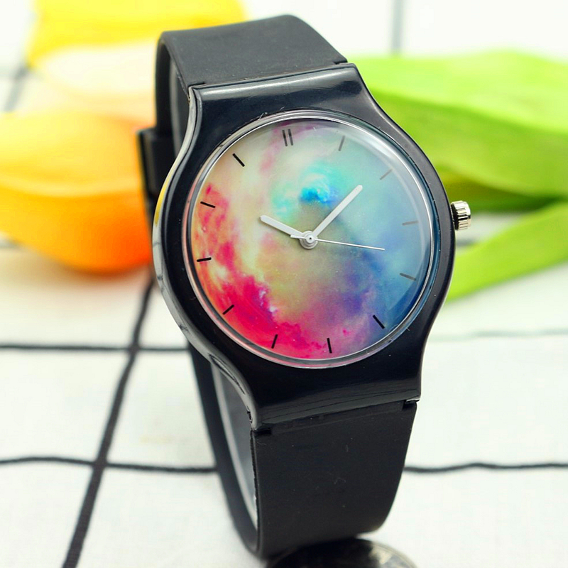 new fashion middle boys and girls high quality Starry sky dial quartz watch luxury women men student gift silicone clocknew fashion middle boys and girls high quality Starry sky dial quartz watch luxury women men student gift silicone clock