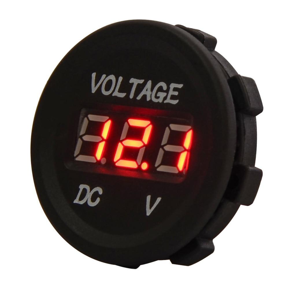 2017 Universal New Car Motorcycle LED Digital Display Voltmeter Waterproof Meter 12V-24V Hot Selling