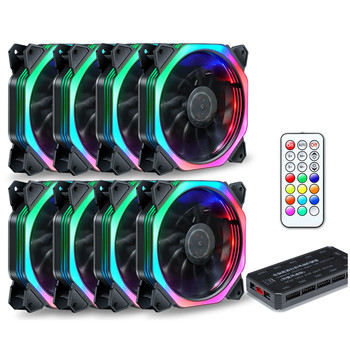 120mm Quiet + IR Remote New computer Cooler Cooling RGB Fan CPU Computer Case PC Cooling Fan RGB Adjust LED For Computer Case great wall rgb pc case cooler fan kit 20mm mute heat sink for computer cooling 16 adjustable led radiator cpu cooling fan 12v