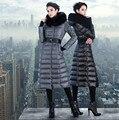 High-Quality 2017 Fur Collar Down Jacket Women Long Paragraph Longer Thicker Coat Slim Luxury 9027 Overknee Jacket