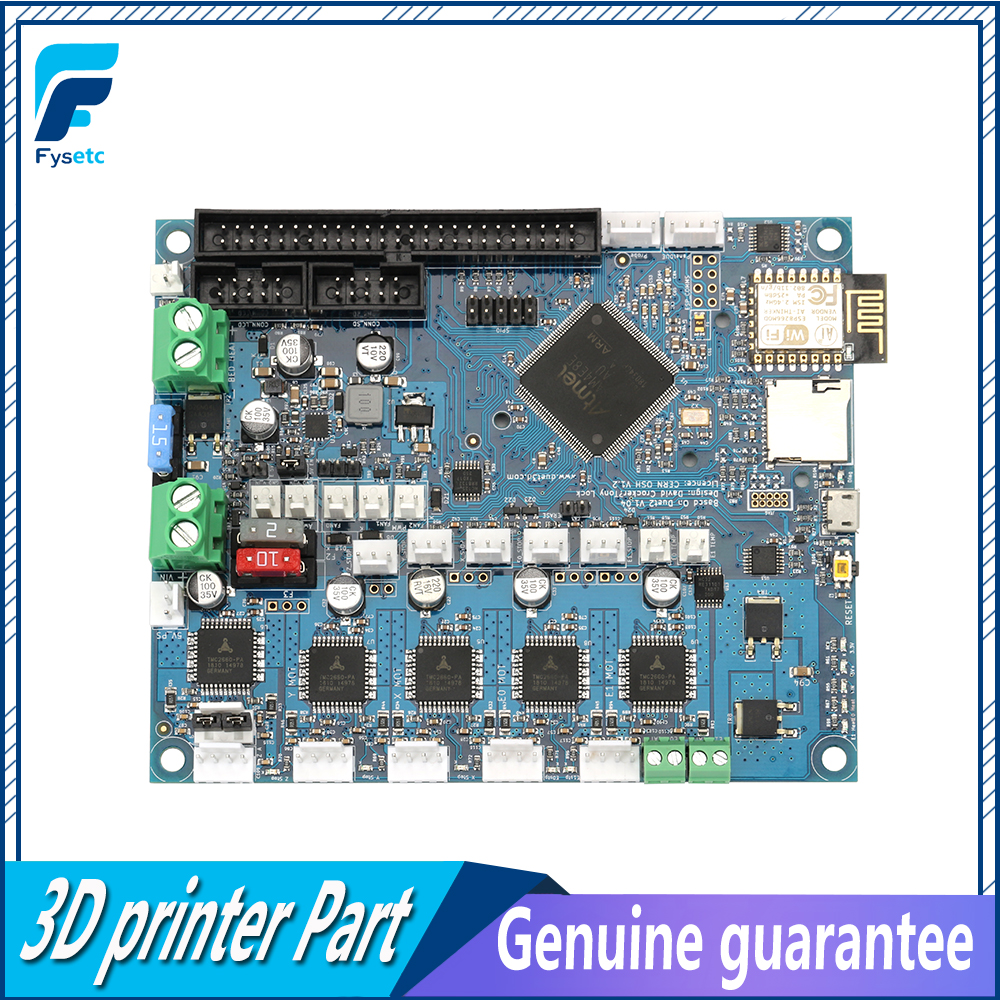 Image 2 - Latest Cloned Duet 2 Wifi V1.04  DuetWifi Advanced 32bit Motherboard Upgrades Controller Board For 3D Printer CNC BLV MGN Cube-in 3D Printer Parts & Accessories from Computer & Office