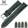 Maikes новое поступление прочный кожаный ремешок 18 мм 19 мм 20 мм 21 мм 22 мм нержавеющей стали пряжки группа мужчин для TISSOT