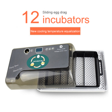 Automatic 12 Eggs Incubator Digital Hatcher Large Capacity Practical Incubators for Chicken Duck Poultry Quail Eggs Home Use fast shipping minni 12 eggs automatic incubator poultry digital automatic turn chicken bird goose quail hatcher terperature con