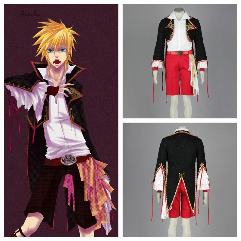 Ainclu Free Shipping Hatsune Miku Kagamine Len Kids Cosplay Costume Customize for plus size adults