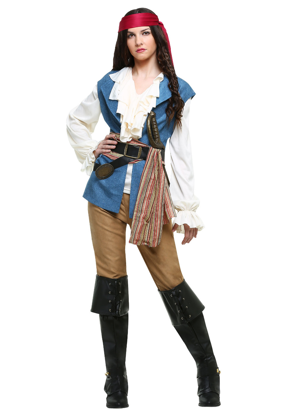 Women Pirate Costume Halloween Carnival Party Buccaneer Uniforms Captain Pirates of The Caribbean Cosplay Costumes
