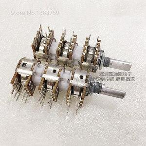 148 Тип потенциометра, 6-канальный B10K * 6 усилитель мощности, регулировка громкости, потенциометр, половина ручки, длина 20 мм