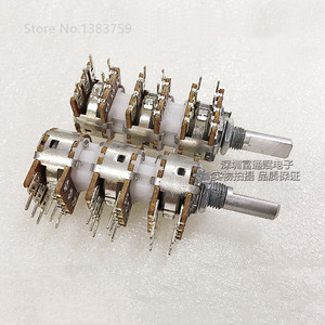 148 type potentiometer six channel B10K*6 power amplifier volume adjustment potentiometer half handle length 20MM(China)
