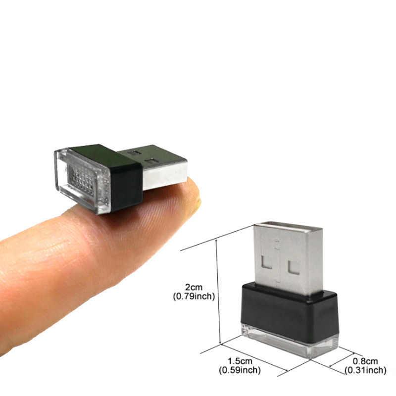 1 Pcs Styling USB Suasana LED Lampu untuk Audi A5 BMW F20 E61 VW Golf 4 Honda Civic ford Focus MK2 Ford Ka VW Golf 6 Toyota
