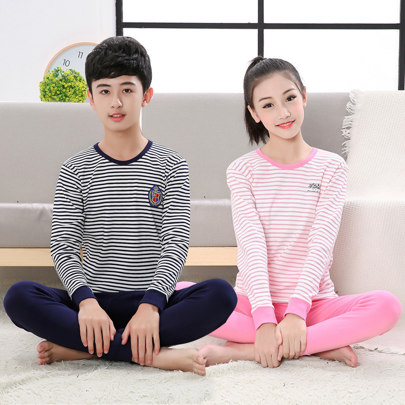 12-19Years old children   pajamas     sets   baby girl and boys clothes   pajamas   baby boys girls cartoon long sleeve T-shirt+Pants 2pcs