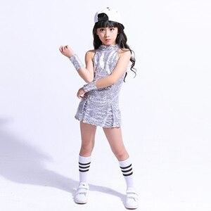 Image 4 - بدلة للرقص للأطفال لموسيقى الراقصة من ماركة سونغيوكسيا بدلة رقص هيب هوب للأطفال ملابس للرقص عصرية براقة ملابس للرقص ملابس للتشجيع للفتيات