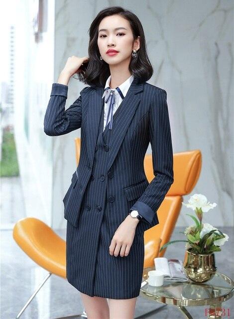 Señoras formales trajes para las mujeres trajes de negocios Blazer y chaqueta  conjuntos Oficina uniformes estilos 976e460dd00d