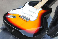 Best Price Wholesale Price New style Stratocaster Signature 6 Strings Left Hand ST electric guitar Sunburst in stock