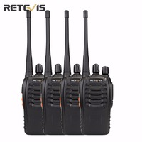 4 Pcs Retevis H 777 Walkie Talkie UHF 400 470MHz 5W Portable Transceiver Radio A9105A