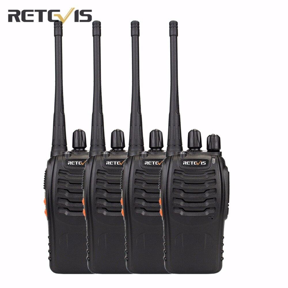 4 шт Retevis H777 Walkie Talkie UHF 400-470MHz UHF трансивер Handy 2 Way Портативный РАДИОСТАНЦИЯ коммуникатор A9105A