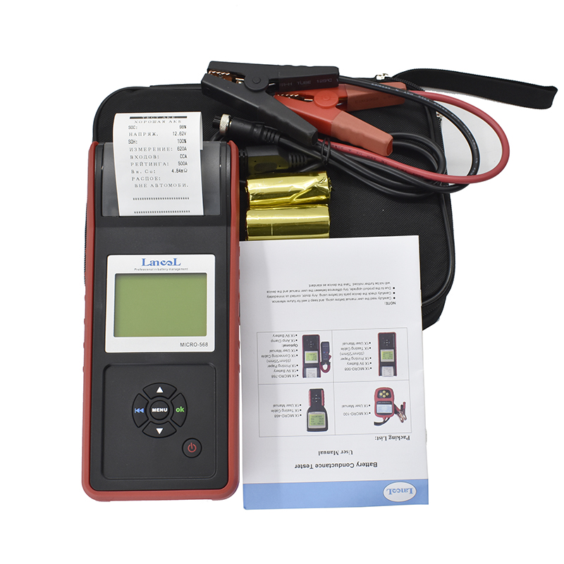 Lancol Factory Micro 568 Car Automotive Battery Tools For Cars Battery Analyzer With Printer Car Printer