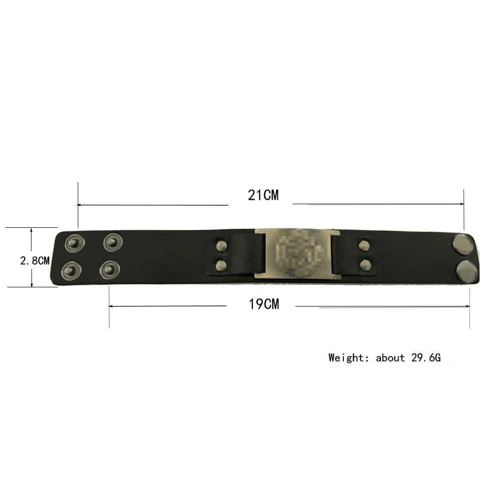 Bracelet Teamer mauvais œil d'horus bijoux en cuir véritable égyptien amulette surnaturelle Talisman noir/marron pour homme