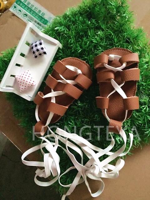 2016 botas de verano de moda Romana niñas gladiador zapatos muchachas del niño del bebé mocasines zapatos de los niños de alta calidad