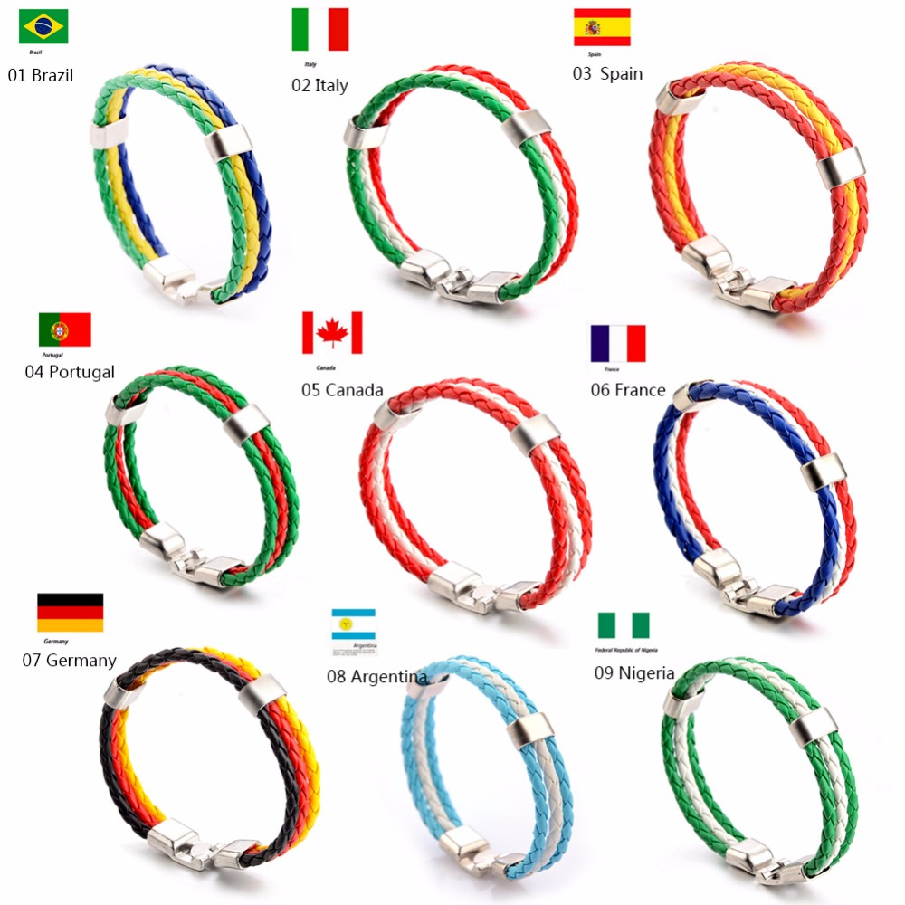 Wristbands Bracelet Wristband Stainless Steel Italian Flag Jewellery Bracelet 01 Jewelry & Watches