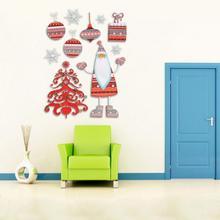 Home Sticker Christmas Wall Decor Santa Clause Xmas Tree Party Wall Sticker Decoration New
