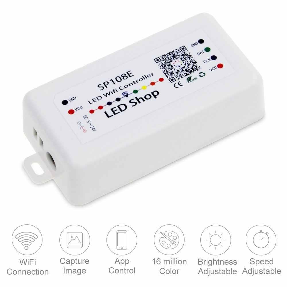 Detail Feedback Questions About Sp108e Wifi Led Controller Smart App Flashlight Schematic Application Control Ws2812b Ws2811 Ws2813 Apa102c Strip Module Light