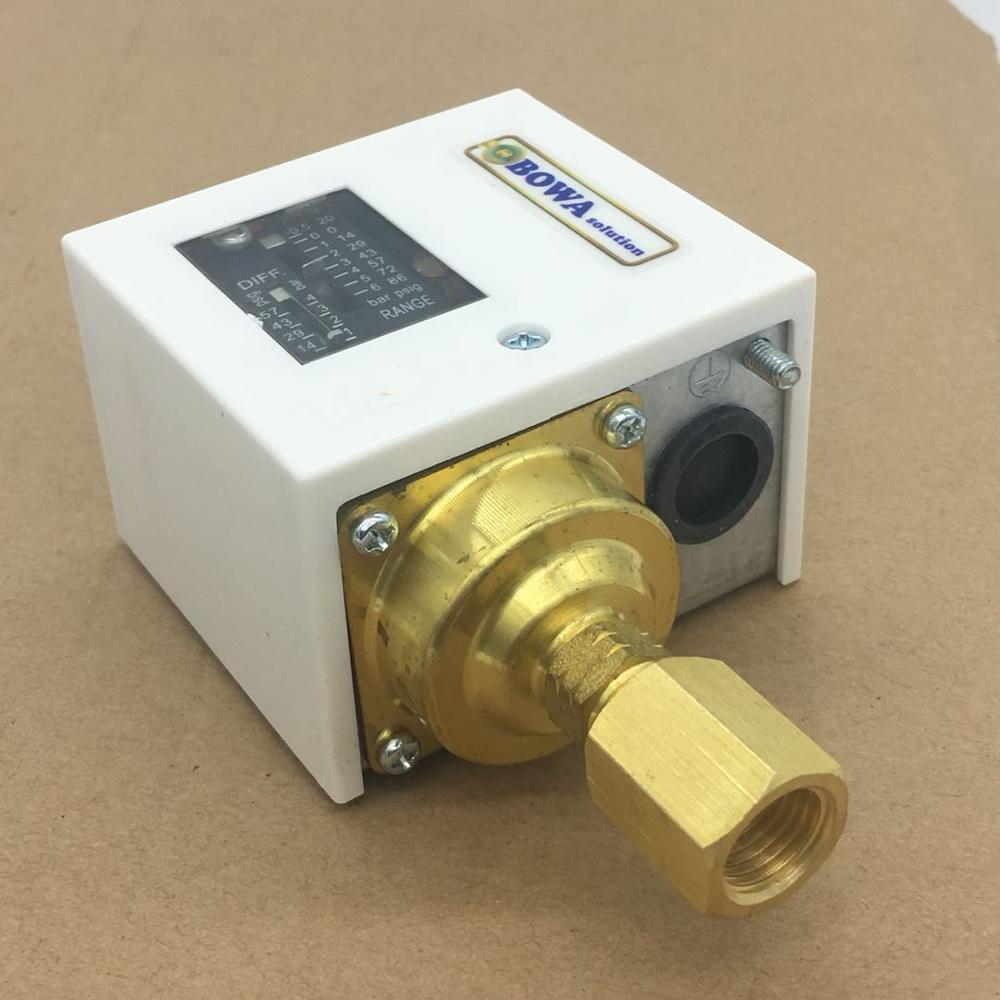 Auto reset high pressure control switches on/off condenser fans to keep the unit run smoothly in refrigeration or heat pump unit