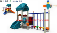 Anti rust CE Certificated Outdoor Swing Set Kids Swing and Slide Outdoor Playground