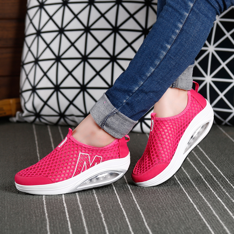 2018 Summer Mesh Women Sports Sneakers Shoes Breathable Athletic Shoes  Women Running Shoes For Women-in Running Shoes from Sports   Entertainment  on ... d7becf83333f