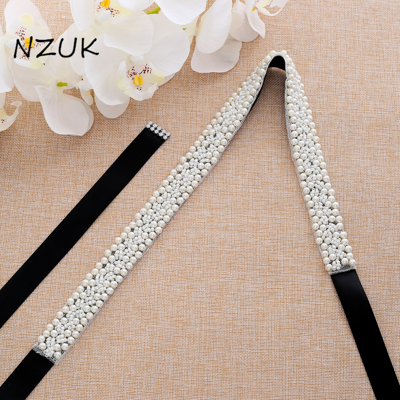 Pearls Wedding Belt Rhinestones Bridal Belt Handmade Flower Crystal Bridal Sash For Wedding Gowns ZZY164S