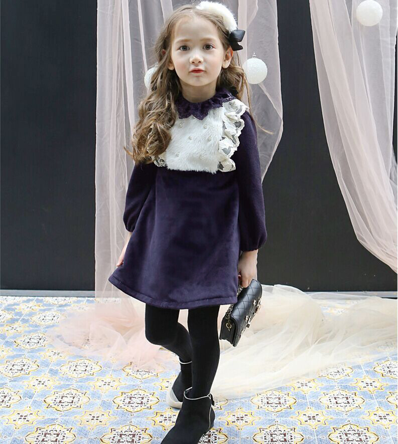 Winter Toddler Kids Princess Dresses For Girls Clothes Baby Girl