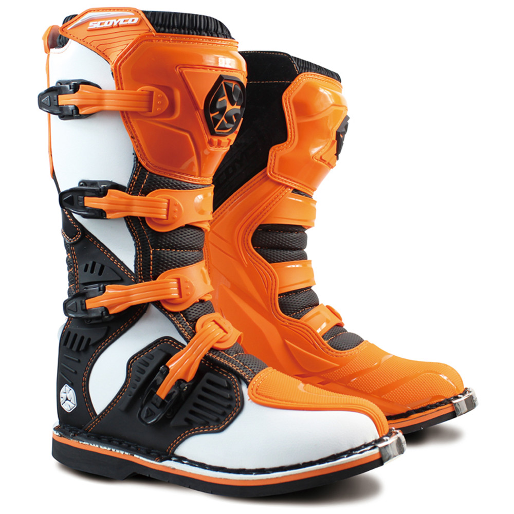 Professional Leather Motorcycle Boots Botas Moto Motocross Botte Stivali Motociclista Mo ...
