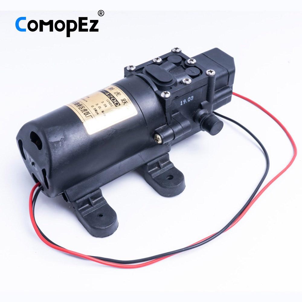 High Quality 5L/Min DC 12V 3A Diaphragm Water Pump Small Safe High Pressure Self Priming Pump 4200r/min 0.8Mpa