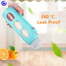 400ml Fashionable Heat-resistant Glass Bottle Large-scale Creative Plastic Non-slip Portable Leakproof Sports Kettles water