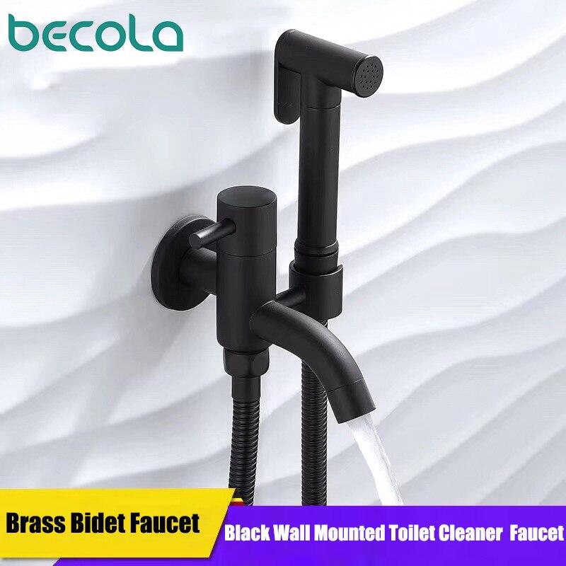 Toilet Portable Black Bidets Bathroom Hand Shower Bidet Toilet Sprayer Hygienic Shower Bidet Tap Wall Mount Bidet Faucet