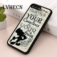 LvheCn TPU Skin phone case cover for iPhone 5 5s SE 6 6s 7 8 plus X XR Xs Max Jiminy Cricket Pinocchio Quote(China)