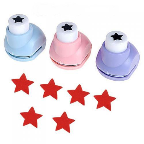 Kid Child Mini Printing Paper Hand Shaper Scrapbook Tags Cards Craft DIY Punch Cutter Tool (Star)