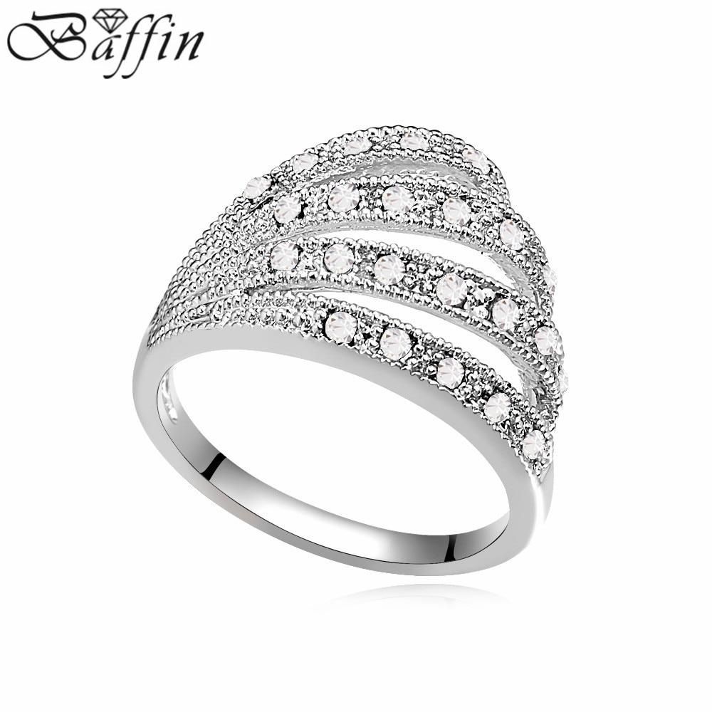166d7379e130 Niña 2016 Nueva elegante anillo micro inlay austríaco anillo amantes  joyería Accesorios anillo para las mujeres