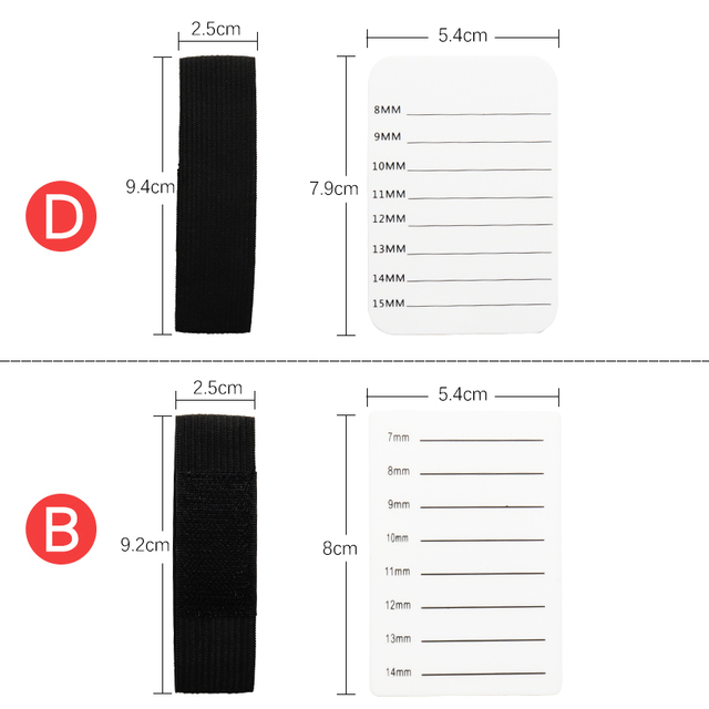 Eyelash Tray Strip Stand Acrylic Adhesive Pallet Holder Pad Eyelash Extensions Hand Plate Makeup Tools 3