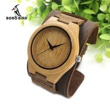 Bobo bird mens de bambú de madera relojes de chicago pulseras desmontable amplia venda del cuero genuino de correas con caja de regalo oem dropshipping
