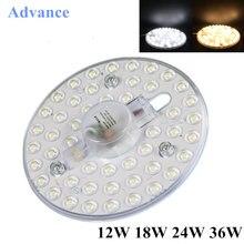 Tablero de luz LED para cocina y dormitorio, lámpara de techo LED de 220v, 5730SMD, 12W/18W/24W/36W, blanco brillo alto, pulpo redondo