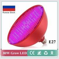 En gros 80 W E27 Rouge Shell Usine de LED Grow Lights 800 PCS SMD LED Puces ROUGE + BLEU Hydroponique pour plantes