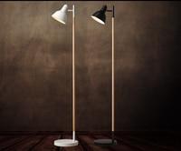 Fashion Nordic solid wood floor lamp simple modern Japanese living room study bedroom bedroom vertical fishing light MZ4