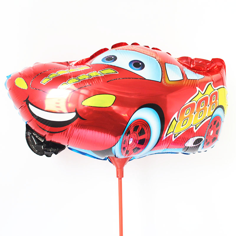 2015 new 20 pcslot mc cars balloon with stick and cup 3145cm car story ballon for kids birthday gifts aluminium foil baloes