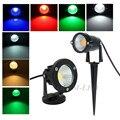 10X IP65 Outdoor Garden LED Lamp Light 220V 110V 3W 5W 7W 9W COB LED Lawn Spike Light Pond Path Landscape Spot Light Bulbs